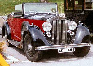 Rolls-Royce 25/30 - Image: Rolls Royce Drophead Coupe 1937