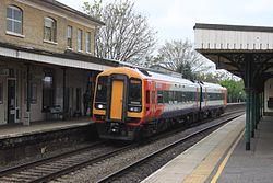 Romsey - SWT 158886 Eastleigh service.JPG