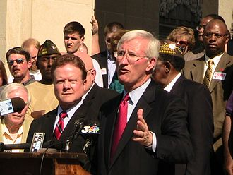 United States Senate special election in Mississippi, 2008 - Musgrove campaigning for Senate with Jim Webb in Jackson, Mississippi