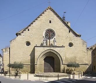 Roquemaure, Gard - The western end of the parish church