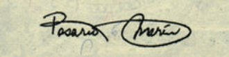 Rosario Marin - Marin's signature, as used on US currency