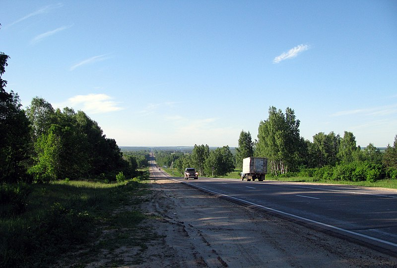 Файл:Route R158 not far from the village of Nizhegorodets.jpg