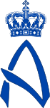 Royal Monogram of Princess Alexandra of Denmark.svg
