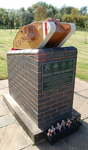 Royal Tank Regiment - Royal Tank Regiment memorial at the National Memorial Arboretum.
