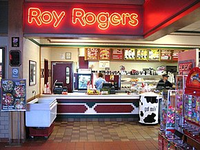 Roy Rogers Restaurant At The Indian Castle Service Plaza On New York State Thruway