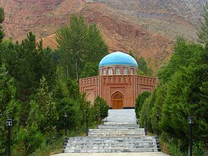 Panjakent: Rudaki Tomb in Panjkent-after restored