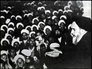Ruhollah Khomeini speaking to his followers against capitulation day 1964