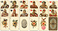 Russian playing card deck (face cards) Russian style 1911 original.jpg