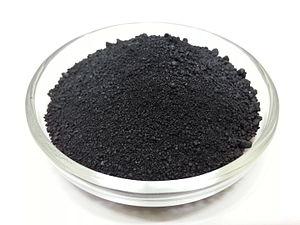 Ruthenium(III) chloride - Image: Ruthenium Chloride Hydrate