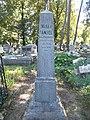 Sámuel Ivánka †1886 grave obelisk, 2020 Sárospatak.jpg
