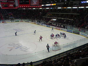 Promotion and relegation - Södertälje SK-Leksands IF during a 2007 Kvalserien game.