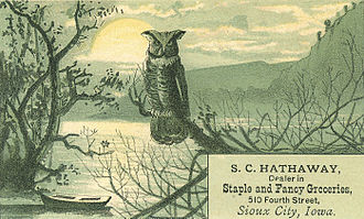 History of Sioux City, Iowa - Trade card advertisement, circa 1885