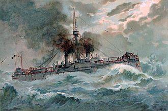 SMS Oldenburg (1884) - Painting of Oldenburg in 1902