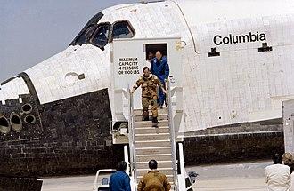 Shuttle Ejection Escape Suit - Image: S81 30852