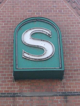 Berlin-Schöneweide station - S-Bahn sign in the station