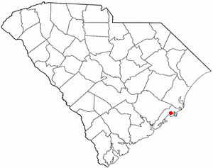 McClellanville, South Carolina - Image: SC Map doton Mc Clellanville