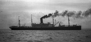 SS Dakota - A broadside image of the SS Dakota