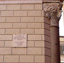 Memoria della residenza di Adelaide Ristori e della successiva residenza di Aldo Palazzeschi