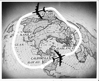 """Salvador E. Felices - """"Operation Power-Flite' was the first round-the-world nonstop flight by a jet airplane."""