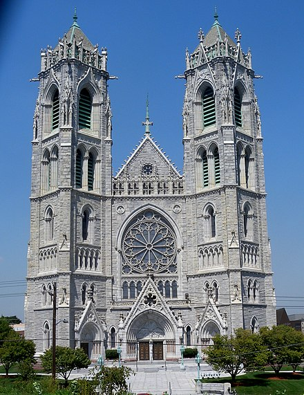 Cathedral Basilica of the Sacred Heart in Newark Sacred Heart fr hill center jeh.jpg