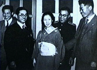 Sada Abe - Newspaper photo taken shortly after Abe's arrest, at Takanawa Police Station, Tokyo on May 20, 1936