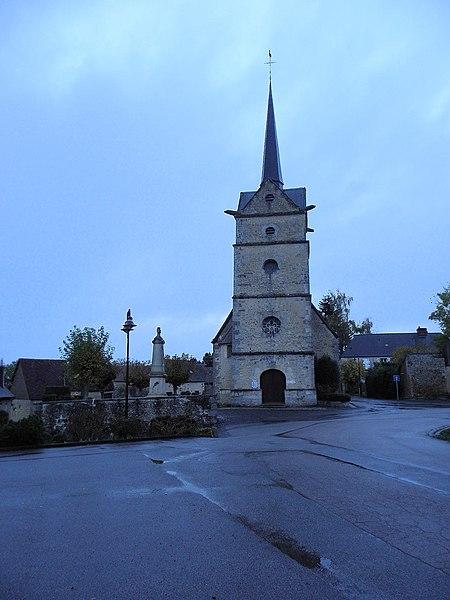 Église Saint-Aubin de Saint-Aubin-d'Appenai (61).