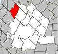 Saint-Bernard-de-Michaudville Quebec location diagram.PNG