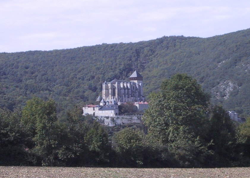 View of the village and catheral of Saint-Bertrand-de-Comminges