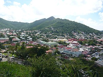 Collectivity of Saint Martin - View of Marigot from Fort St. Louis, 2010