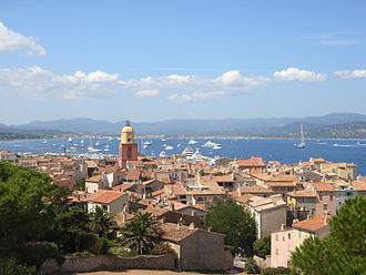 Saint-Tropez - August 2008 panoramic view of Saint-Tropez