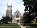 Saint Vincent de Paul Catholic Church (Mount Vernon, Ohio) - exterior, view from across the street.jpg