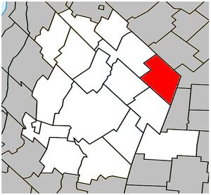 Sainte-Hélène-de-Bagot, Quebec - Image: Sainte Hélène de Bagot Quebec location diagram