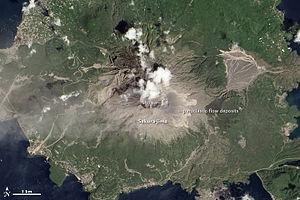 Sakurajima - Sakura-jima eruption as seen on August 18, 2013