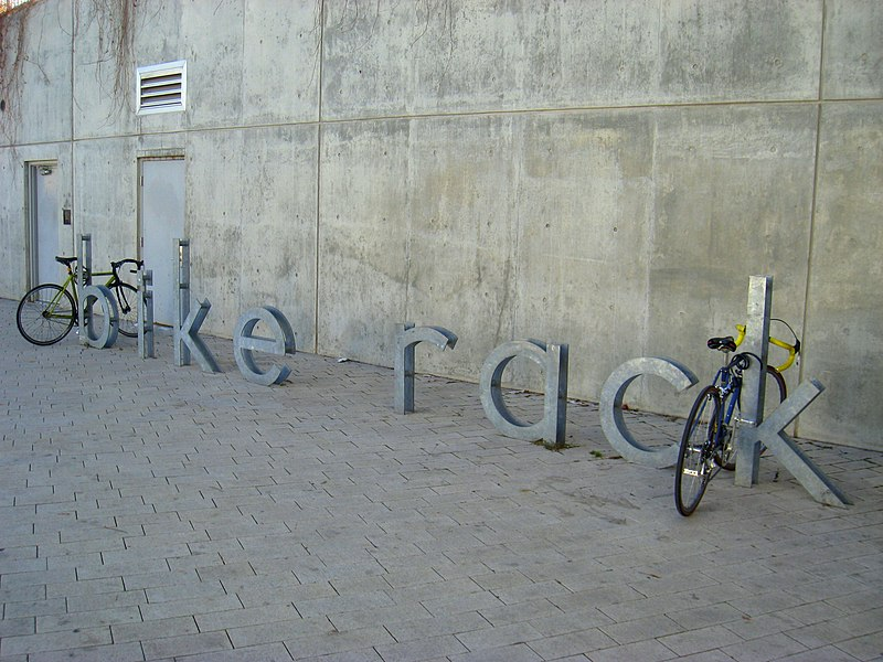 Salt Lake City library bike rack