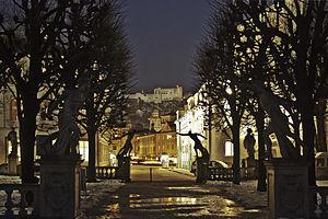 Salzburg (night) - Mirabellgarten