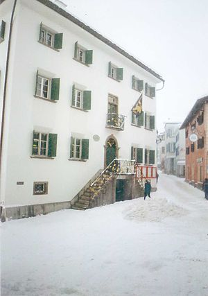 Samedan - Samedan town hall in winter