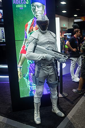 Fictional world of The Hunger Games - Cosplay second Version Peacekeeper San Diego Comic Con 2014-1449