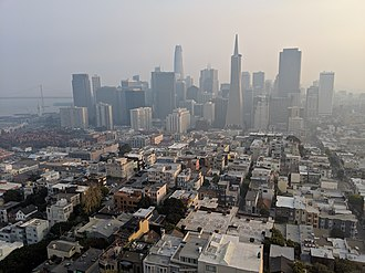 Camp Fire (2018) - The San Francisco skyline as seen from Coit Tower during the Camp Fire
