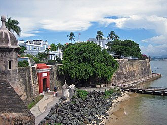 Tourism in Puerto Rico - Image: San Juan City Wall 6