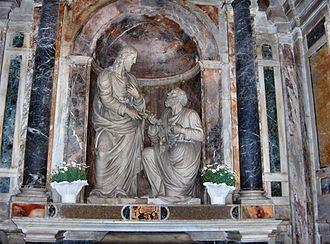 "Giacomo della Porta - ""Christ delivering the keys of Heaven to St. Peter"" (1594), Santa Pudenziana, Rome"