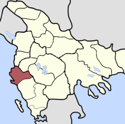 Location of Sanjak of Avlona