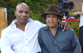 Sanjay F Gupta with Mike Tyson on a shooting set in California, USA.png