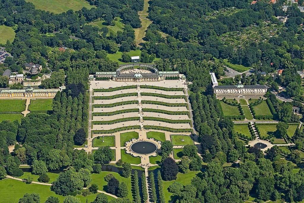 Sanssouci von oben, 2008