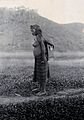 Sarawak; a native Kayan woman carrying her child in a sling. Wellcome V0037421.jpg