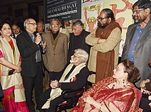 Satish Gujral and the Director General, National Gallary of Modern Art, Shri Adwaita Gadanyak at the inauguration of an exhibition entitled 'The 100th Birth Anniversary Exhibition and Celebration DHANRAJ BHAGAT (1917-1988)'.jpg