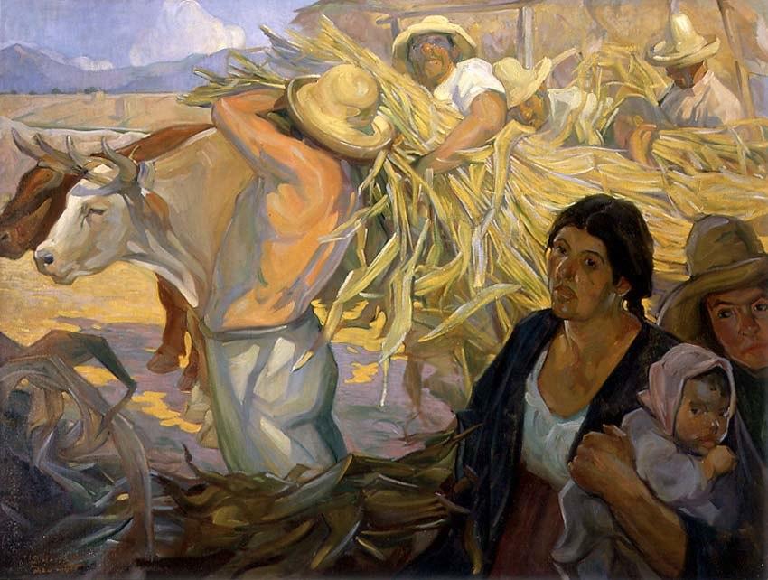 Saturnino Herrán - La cosecha, 1909