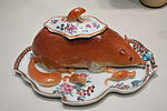 Sauce tureen in the shape of an Asiatic dormouse, Jingdezhen, China, c. 1745 - Winterthur Museum - DSC01554.JPG