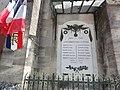 Saucourt-sur-Rognon, église Saint-Rémy, plaque monument aux morts sur façade.jpg