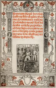 Front page of Christiern Pedersen's Saxo version, Paris 1514.