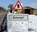 Schëld Bicherhaff Richtung Norden.jpg